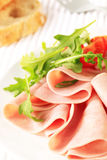 Thin-sliced ham Stock Photo