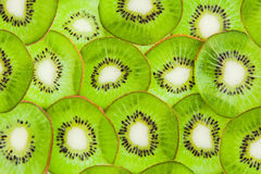 Thin sliced ​​kiwi fruit Stock Photo