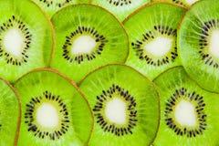 Thin sliced kiwi fruit Stock Photography