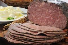 Thin sliced roast beef Royalty Free Stock Photography