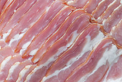 Thin slices of bacon Royalty Free Stock Photography