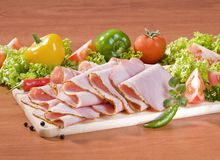 Thin slices of ham Royalty Free Stock Image