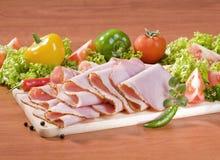 Thin slices of ham Royalty Free Stock Image