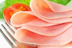Thin slices of ham Royalty Free Stock Photos