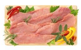 Thin slices of pork Royalty Free Stock Photos