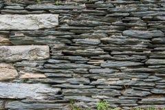 Thin Stone Stacked Wall Stock Photo