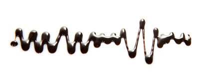 Thin streams of melted chocolate Stock Images