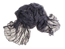 Thin summer scarf isolated on white Stock Photography