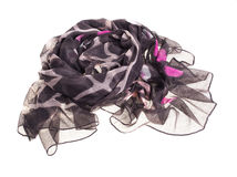 Thin summer scarf isolated on white Stock Images