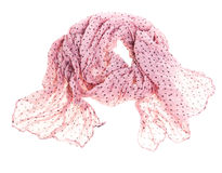 Thin summer scarf isolated on white Stock Image