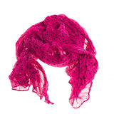 Thin summer scarf isolated on white Stock Photos