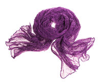 Thin summer scarf isolated on white Stock Photo