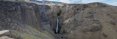 Thin and tall waterfall Stock Image