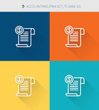 Thin thin line icons set of accounting & finance and planning, modern simple style. ! Royalty Free Stock Photography