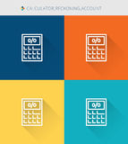 Thin thin line icons set of claculator & reckoning and account, modern simple style Royalty Free Stock Image