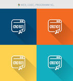 Thin thin line icons set of coding & programming , modern simple style Royalty Free Stock Images