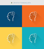Thin thin line icons set of creative&thinking and idea, modern simple style royalty free illustration