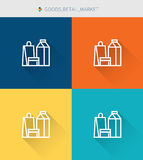 Thin thin line icons set of good goods & retail and market , modern simple style. ! Stock Photo