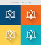 Thin thin line icons set of internet & search and engine ,modern simple style. ! Royalty Free Stock Images