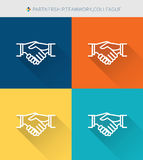 Thin thin line icons set of partnership & team work and colleague , modern simple style. Thin thin line icons set of partnership & team work and colleague Stock Photography