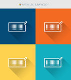 Thin thin line icons set of retail, sale, bar code, modern simple style. ! Stock Photos