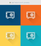 Thin thin line icons set of save money&safe and savings, modern simple style. ! Stock Photos