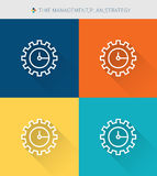 Thin thin line icons set of time management , modern simple style Royalty Free Stock Photography