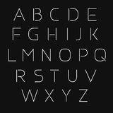 Thin vector font Stock Photos