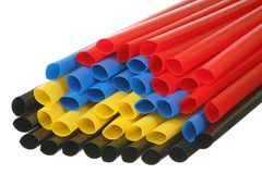 Thin wall heat shrinkable tubing Stock Photos