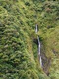 Thin Waterfall Near Banos Royalty Free Stock Images