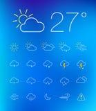 Thin Weather Icon Set Stock Image
