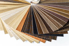 Thin wooden samples sheaf Stock Images