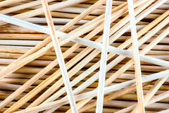 Thin wooden sticks background Royalty Free Stock Photo