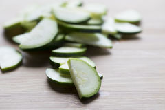 Thin Zucchini Slices Royalty Free Stock Image