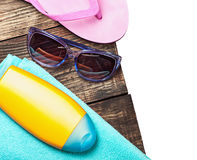 Things for a beach holiday Stock Photo