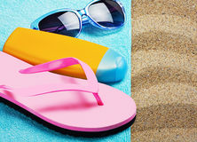 Things for a beach holiday Royalty Free Stock Photo