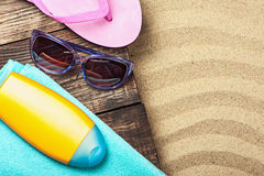 Things for a beach holiday Stock Image