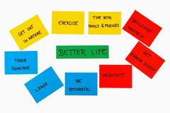 Things for better life concept Royalty Free Stock Photos