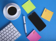Things on the desktop royalty free stock photos