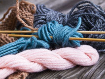 Things for knitting.  Royalty Free Stock Photo