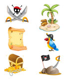 Things related to a pirate Stock Photography