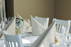 Things on a restaurant table Royalty Free Stock Images