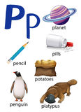 Things that start with the letter P Royalty Free Stock Images