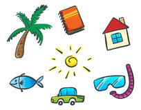 Things for summer Stock Images