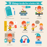 9 Things to do for a better life Royalty Free Stock Image