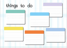 Things to do blank. On white graph paper sheet Stock Photo