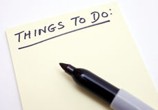 'Things To Do' List Royalty Free Stock Photography