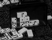 Things to do  my spare time, dominoes. Royalty Free Stock Photos