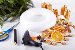 Things to manufacture Christmas wreaths Stock Images