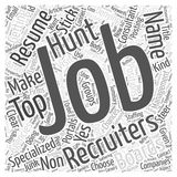 1000 things you don t want in your job hunt word cloud concept  background. Text Royalty Free Stock Photo